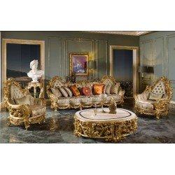 Золотая королевская мягкая мебель в гостиную SOCCI