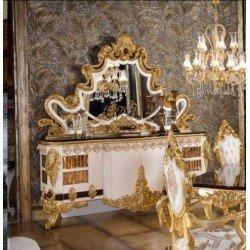 Большой буфет с золотым резным зеркалом Стар