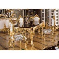 Элитный обеденный стол на четырех ногах в золоте Стар