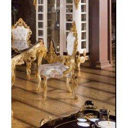 Золотой обеденный стул Стар в стиле барокко