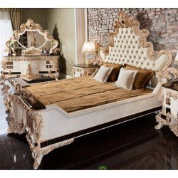 Классическая резная кровать с высоким изголовьем Стар ( STAR )
