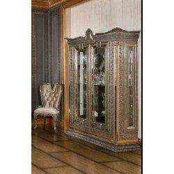 Двухдверная витрина в серебряном цвете Версаче ( VERSACE)