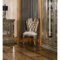 Классический обеденный стул Версаче в серебре