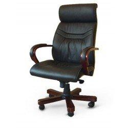 Кожаное кресло премиум класа Домино в кабинет руководителя