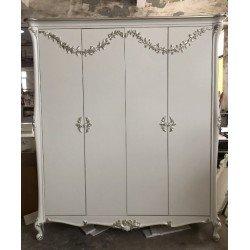 Белый деревянный шкаф на 4 двери Шедевр, Энигма