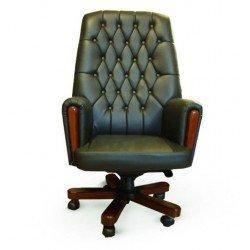 Зеленое офисное кресло Оксфорд в стиле капитоне
