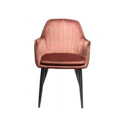 Кораловый мягкий стул с подлокотниками Каролина в стиле модерн