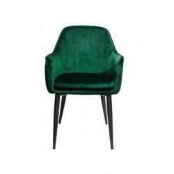 Зеленый велюровый стул Каролина
