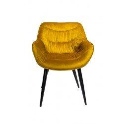 Желтый вельровый стул Ковбой