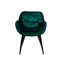 Зеленый велюровый стул -кресло Ковбой