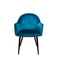 Велюровый стул НОВА в цвете морская бирюза