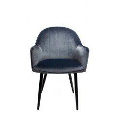 Голубой велюровый стул Нова для ресторана