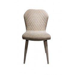 Светло-серый обеденный стул Роза