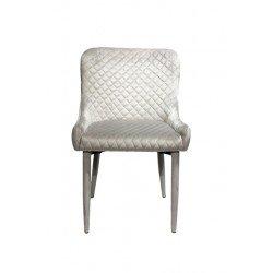 Светло-серый обеденный стул из велюра Скай