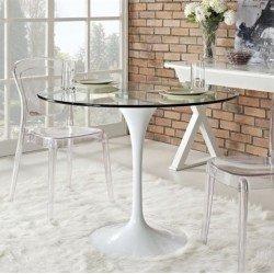 Круглый обеденный стол в стиле модерн Тюльпан