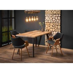 Обеденный стол с декоративной обработкой столешницы DICKSON ( Диксон)
