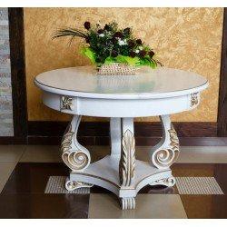 Круглый раскладной обеденный стол Зефир