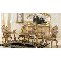 Элитный обеденный стол в стиле барокко король Людовик