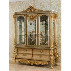 Элитная витрина для посуды Король Людовик