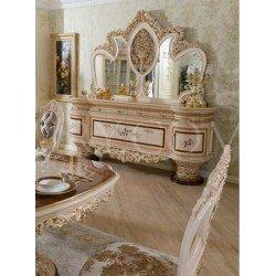 Буфет с зеркалом в гостиную с золотой паталью София