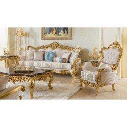 Мягкая мебель в золотом дереве Роелла