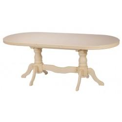 Белый обеденный стол Каспий ( ясень)