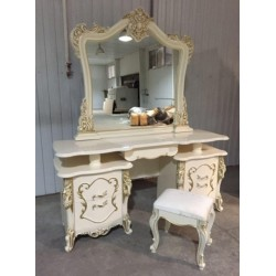 Белый туалетный столик с зеркалом Джоконда