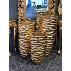 Золотые кашпо и вазы Волна