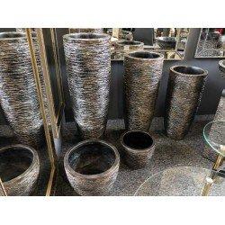 Серебрянные кашпо для цветов Волна 607-608-609