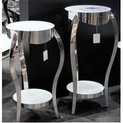 Серебрянная подставка под цветы в стиле АРТ-Деко