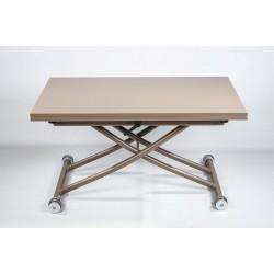 Глянцевый стол трансформер Рим-1 в цвете капучино