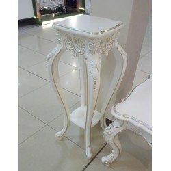 Белая классическая резная подставка для цветов Версаль