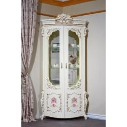 Угловая белая витрина в стиле барокко Венеция классик