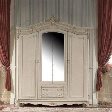 Белый шкаф для одежды четырехдверный Софи, Китай